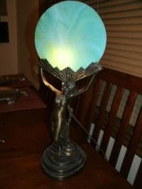 Art Nouveau Lady Lamp - Foter