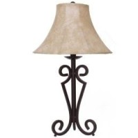 Black Wrought Iron Table Lamp - Foter