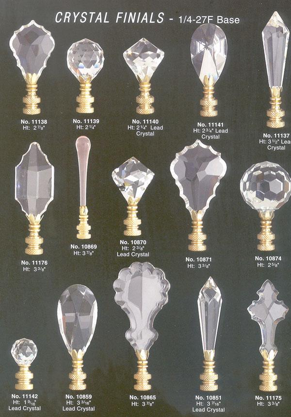 Crystal Lamp Finials