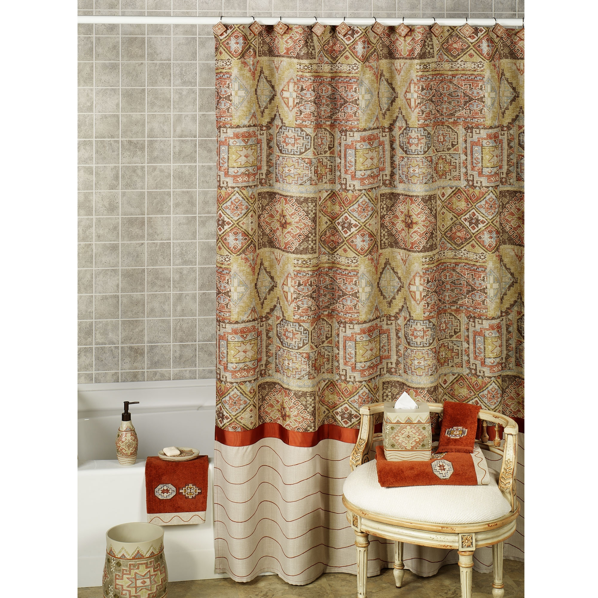 southwestern shower curtain ideas on