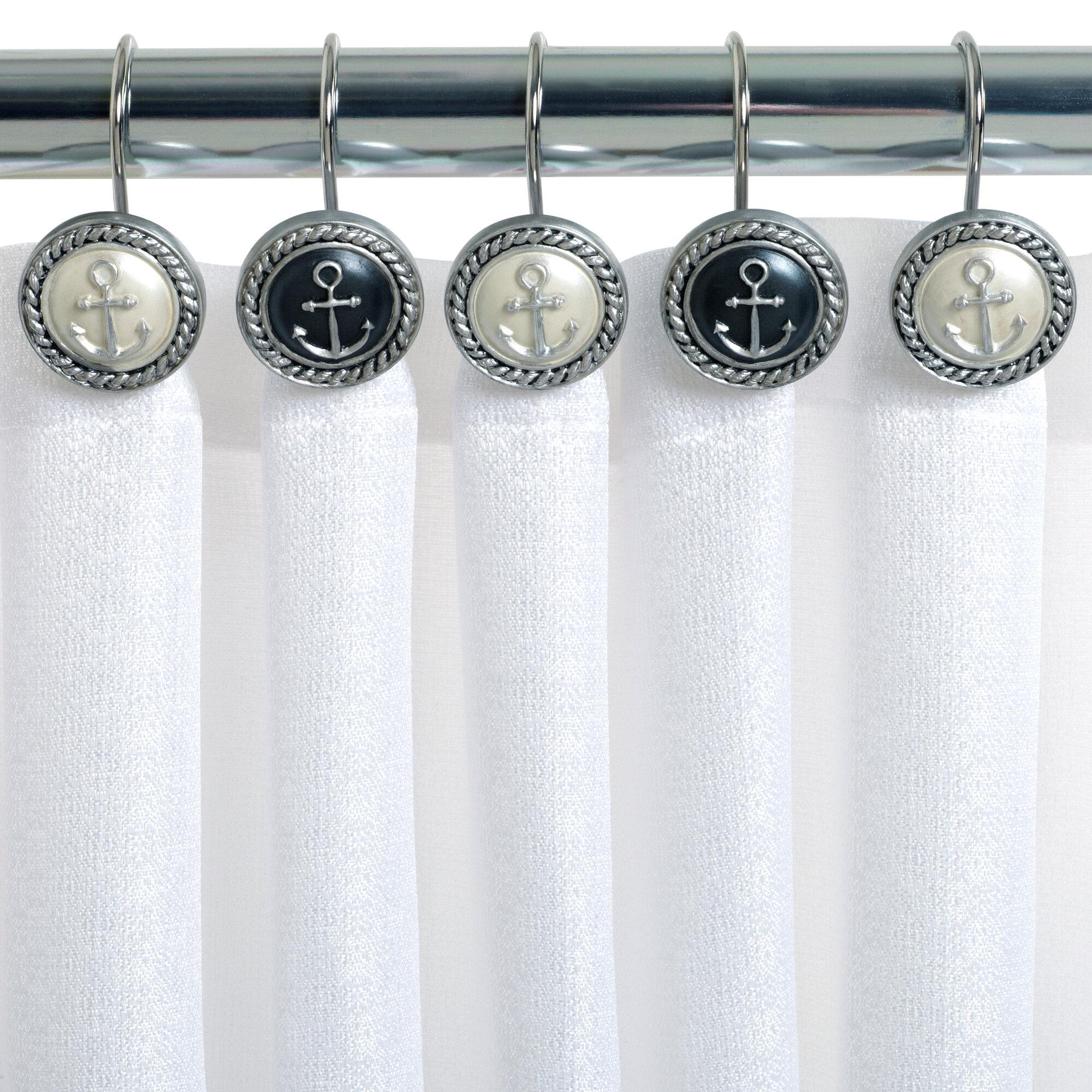 nautical shower curtain hooks ideas