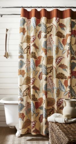 fall kitchen curtains modern pendant lighting for falling leaves shower curtain - foter