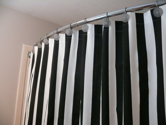 black striped shower curtain ideas on