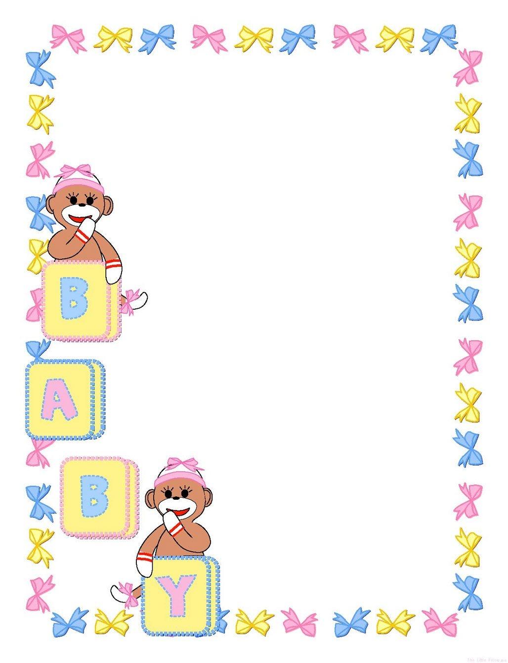 Baby Shower Border Paper Foter