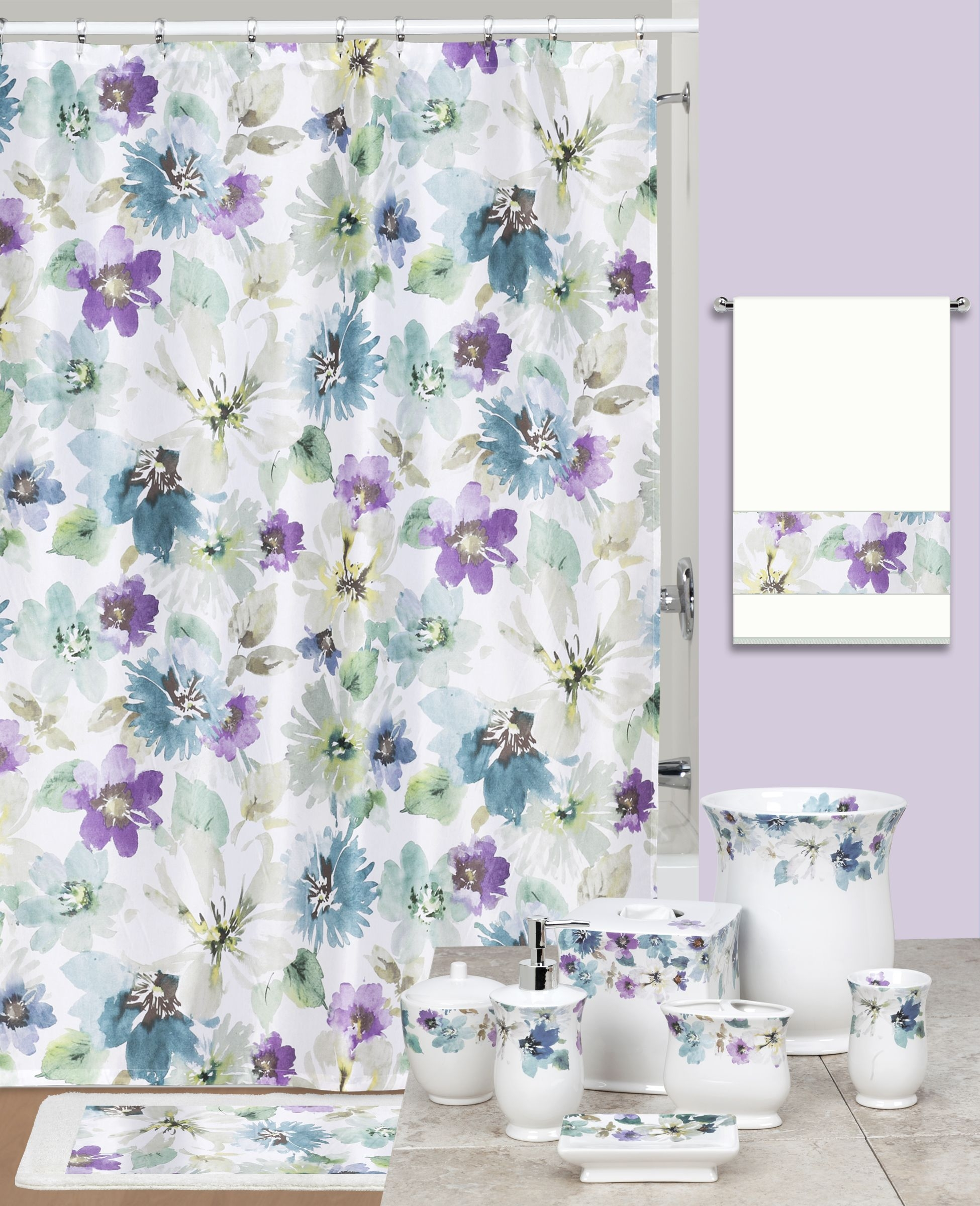 floral shower curtain hooks ideas on