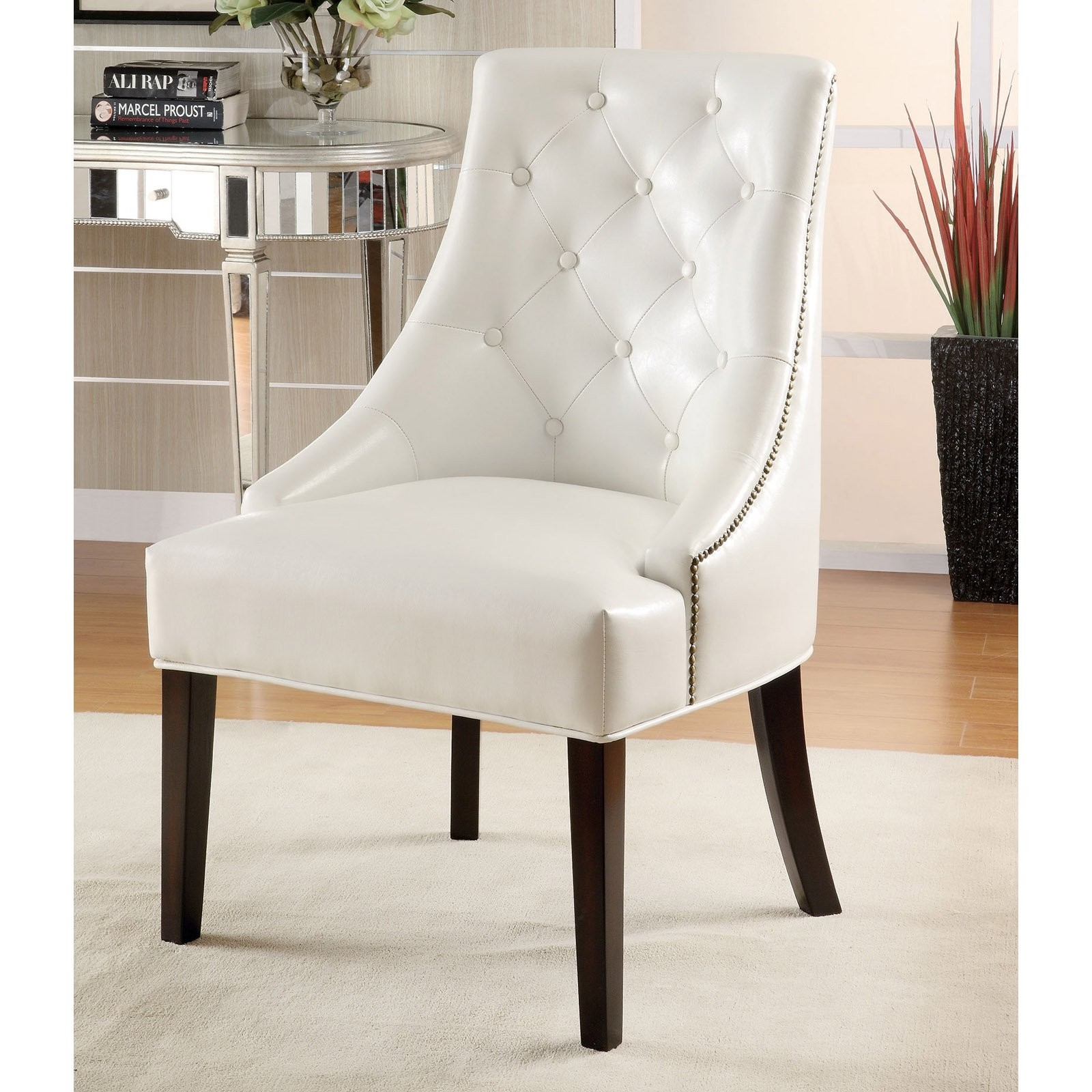 white bedroom chair mima moon high review tufted arm chairs ideas on foter coaster leather like lounge in finish