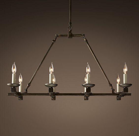 Rectangular Candle Chandelier Foter