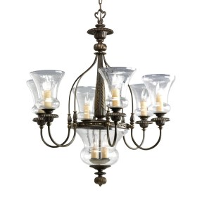 Seeded Glass Chandelier Shade