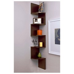 Kitchen Corner Shelves Wood Cart For Bedroom Ideas On Foter Zig Zag Wall Shelf