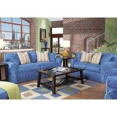 Denim Living Room Furniture White With Turquoise Accents Ideas On Foter Beachside 8 Pc Livingroom Rooms To Go