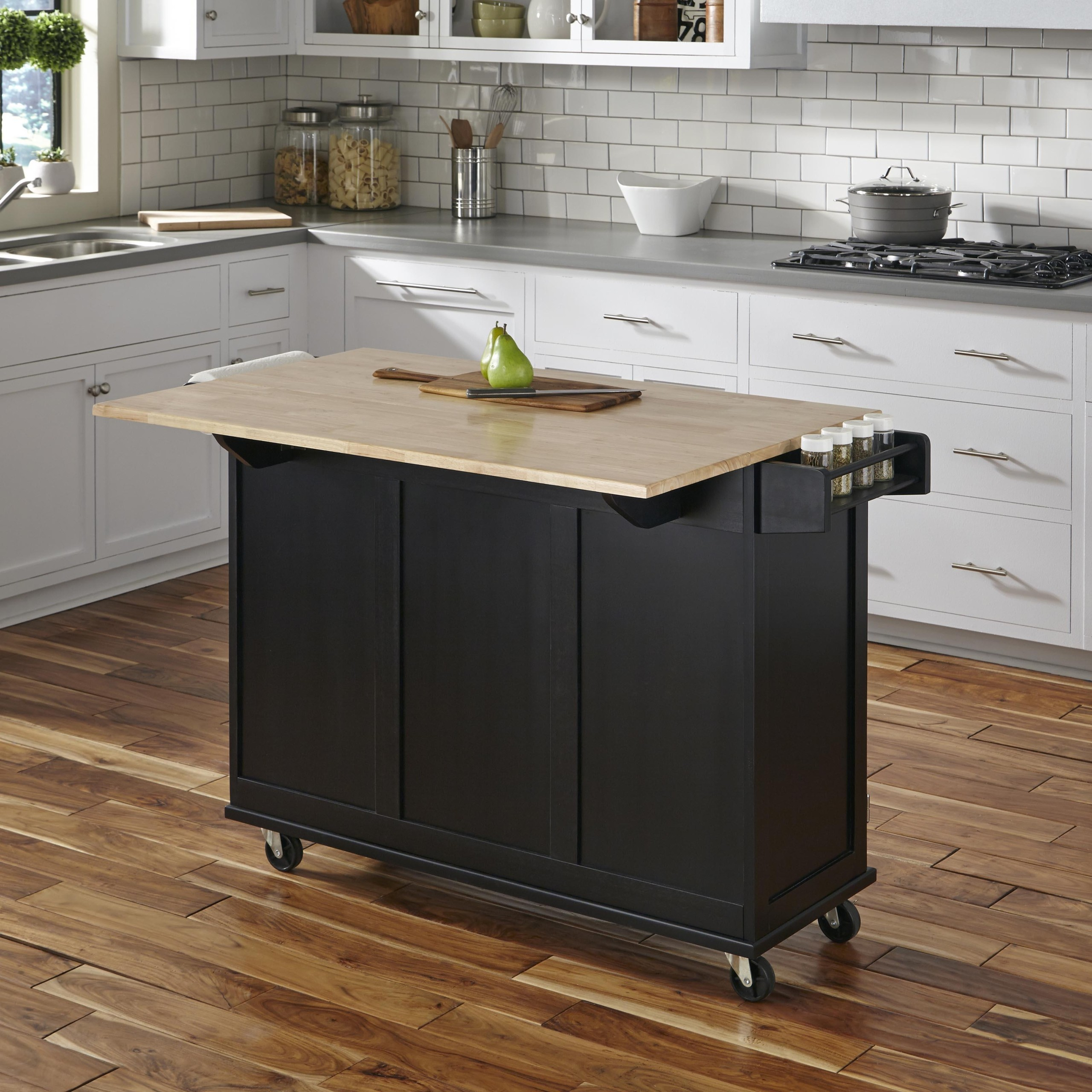 kitchen island table ideas 33 sink drop leaf on foter black engineered rubber wood