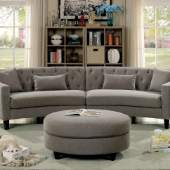 Circular Couches Living Room Furniture Sofa Set Designs For India Curved Sectional Couch Ideas On Foter Linen