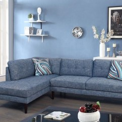 Denim Living Room Furniture Small Arrangement Pictures Ideas On Foter Modern Linen Fabric Sectional Sofa