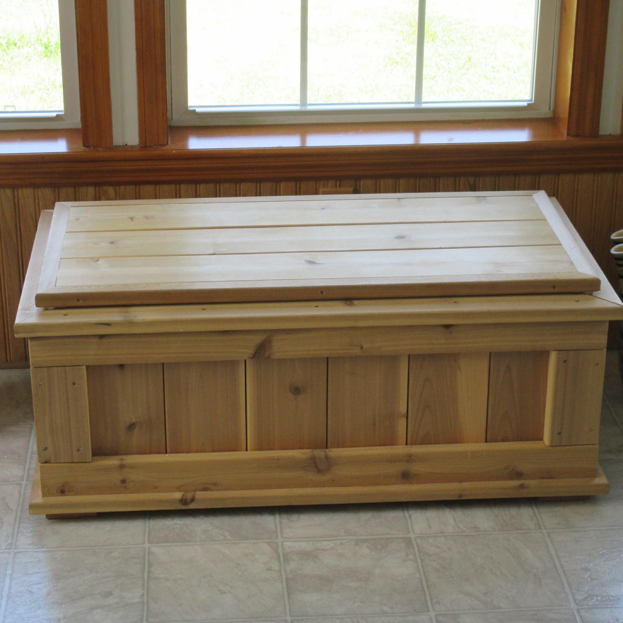 outdoor waterproof storage bench