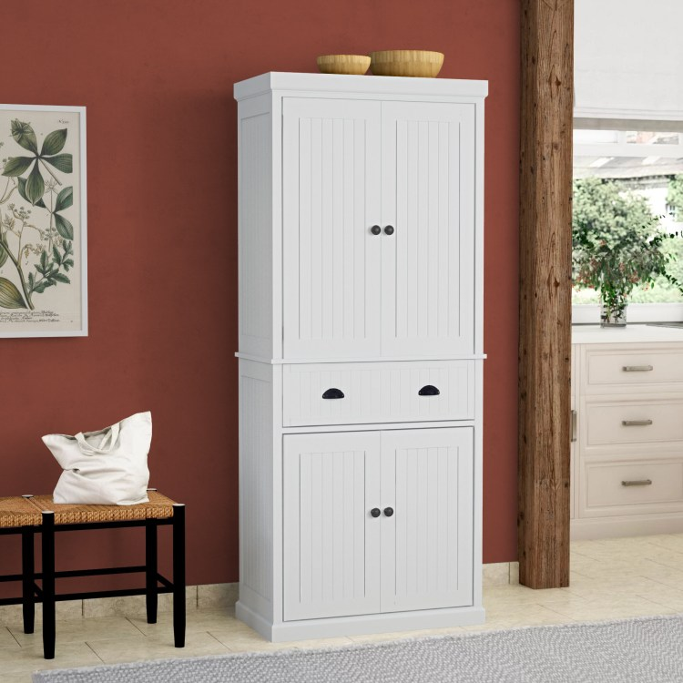 White Kitchen Pantry Cabinet Ideas On Foter