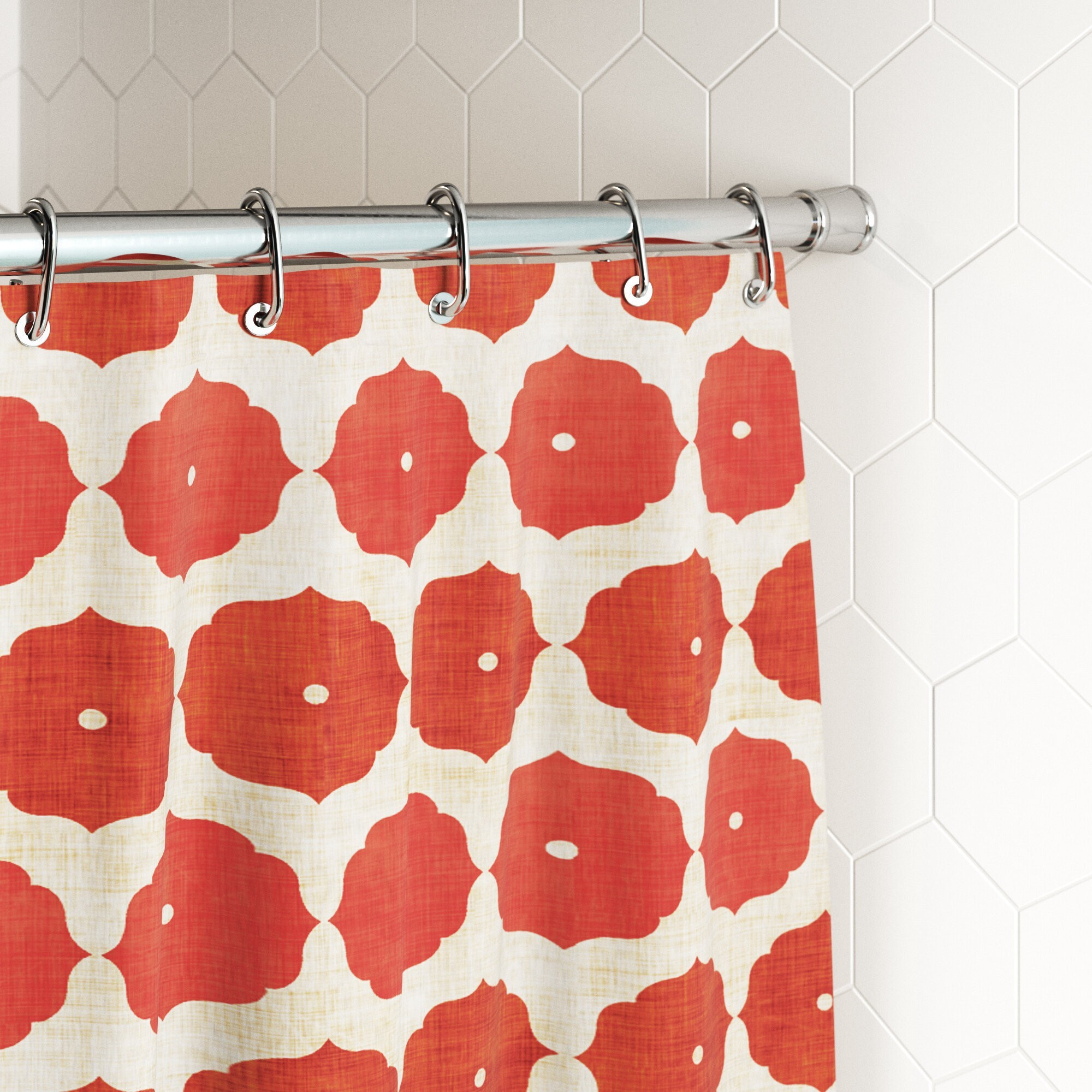 6 styles of shower curtain rods and