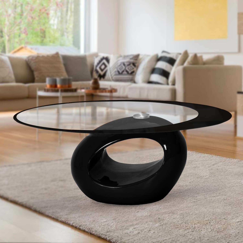 black glass oval coffee table ideas