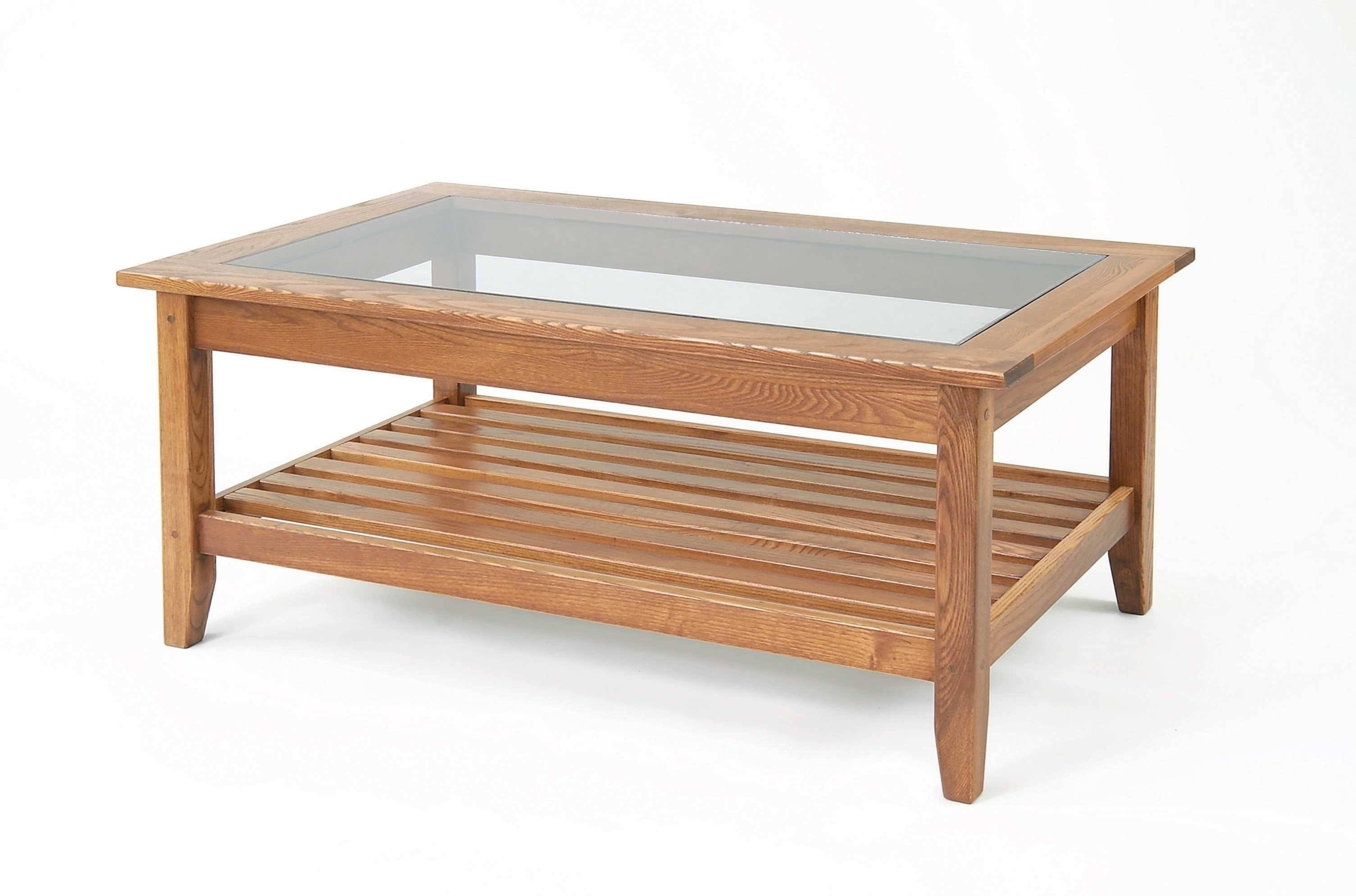 oak coffee table with glass top ideas