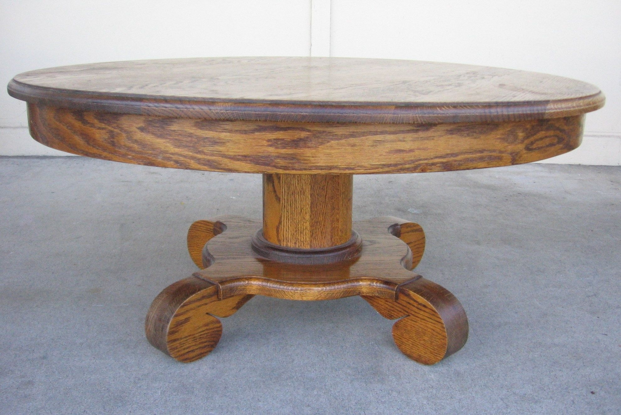 oak round coffee table ideas on foter