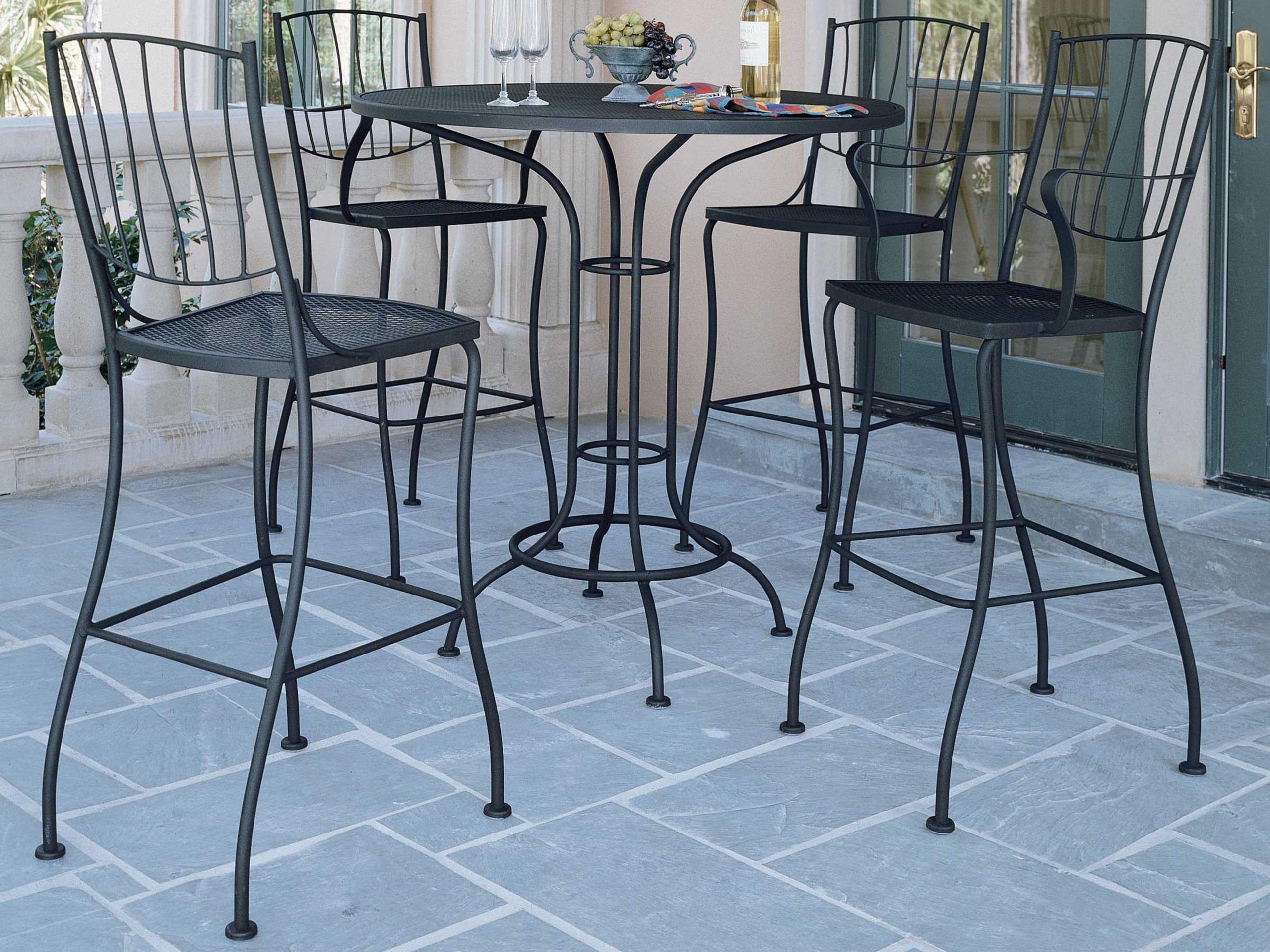 wrought iron bar height table ideas