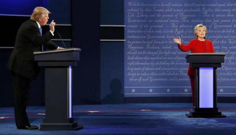 """""""Titánok"""" harca: lezajlott az első Trump-Clinton vita"""