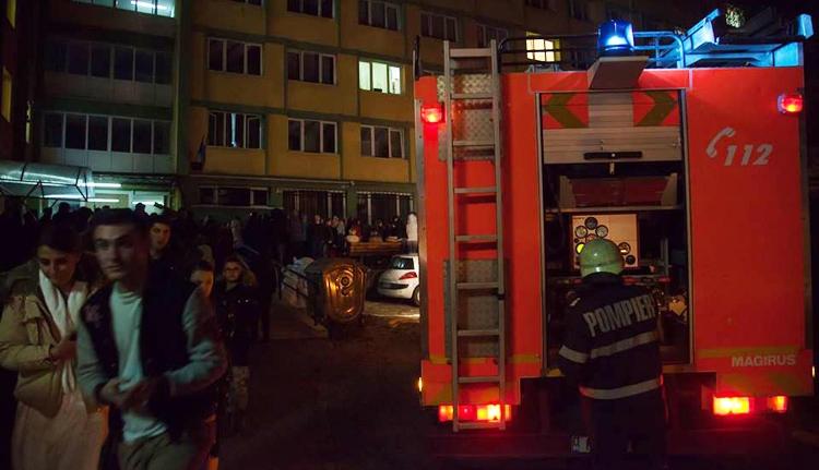 Tűz ütött ki egy kolozsvári egyetemi kollégiumban