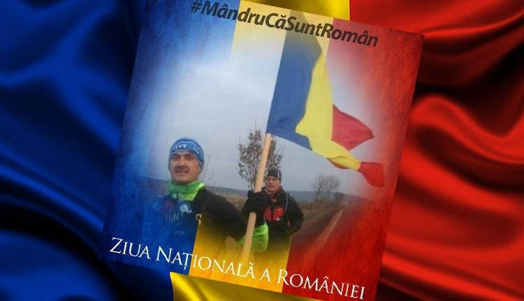 Román zászlóval fut december 1-jén Nagyenyedről Gyulafehérvárra egy magyar ultramaratonista