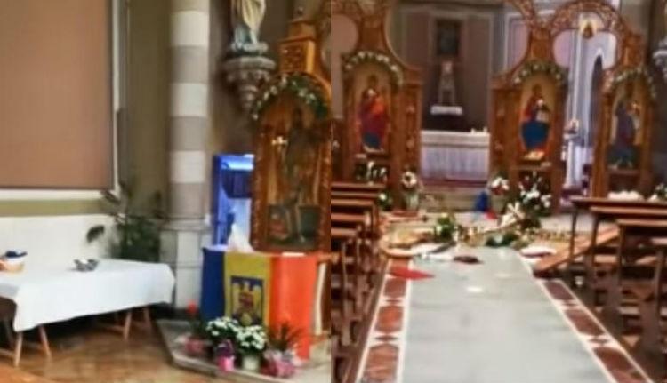 Mi ez, új húsvéti hagyomány? Olaszországban is románok randalíroztak egy templomban (VIDEÓval)
