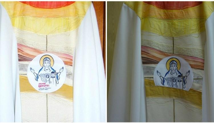 Letakartatta a magyar feliratot Ferenc pápa csíksomlyói miseruháján a kormányőrség