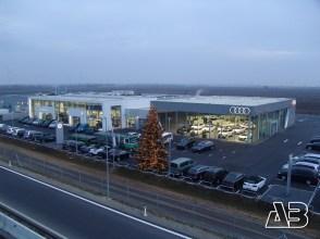 Luftbild von Auto Kamper