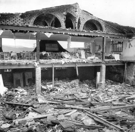 Vista de las instalaciones, tras el derrumbe. Imagen: ABC