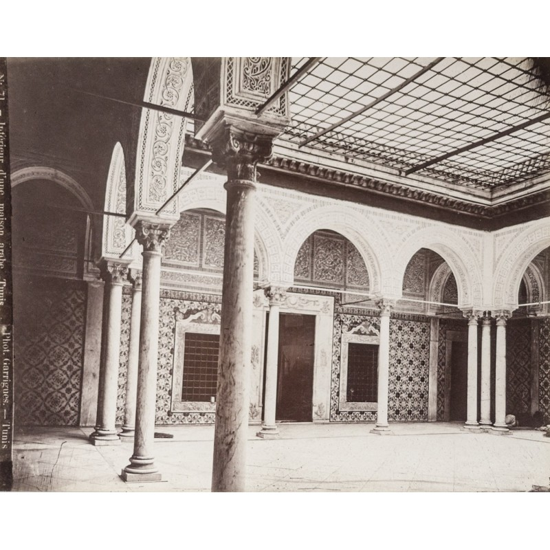 Tunesia  Interieur dune maison arabe Tunis Image No 71 Original photography approx 1885