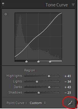 Lightroom develop Tonal Curves 1