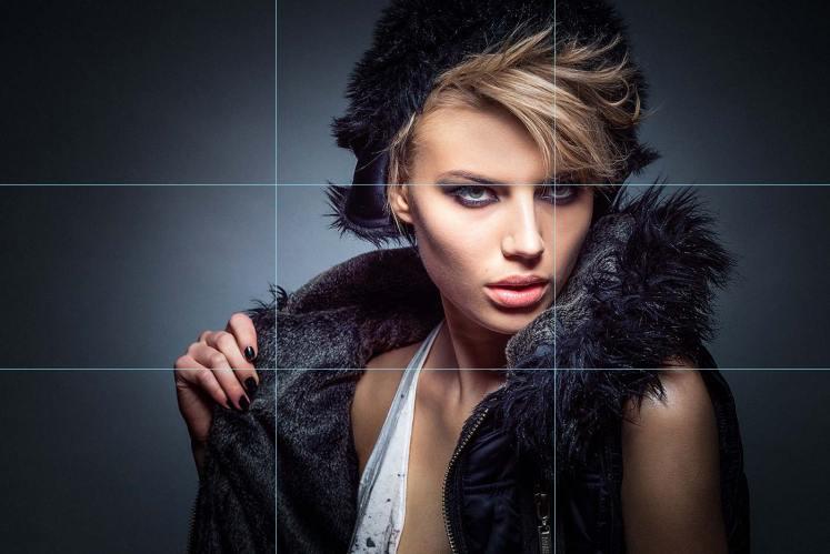 Fotografie Tipps Drittel-Regel-Auge-Model