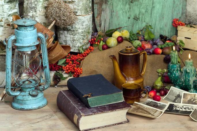Stillleben---Bücher