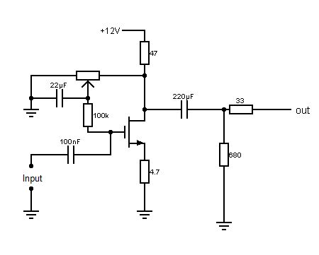 Fácil de construir amplificador de auriculares con Mosfets