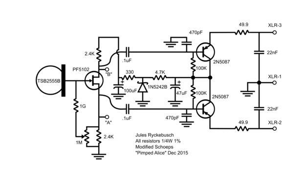 Modificar un micrófono de condensador de LDC barato / Paso