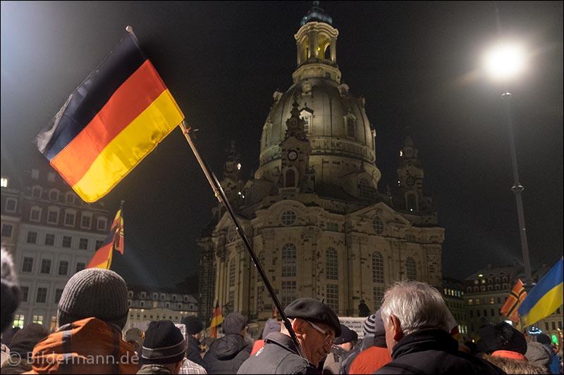 Foto: ''PEGIDA'' - Demonstration am 18.01.2016 in Dresden