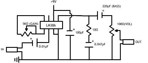Maken van een eenvoudig Audio-versterker / Stap 2: Circuit