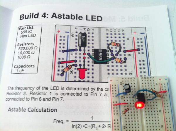 The 555 Astable Breadboard Circuit