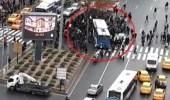 Ankara'da Belediye Otobüsü Yayaların Arasına Daldı! Yaralılar Var