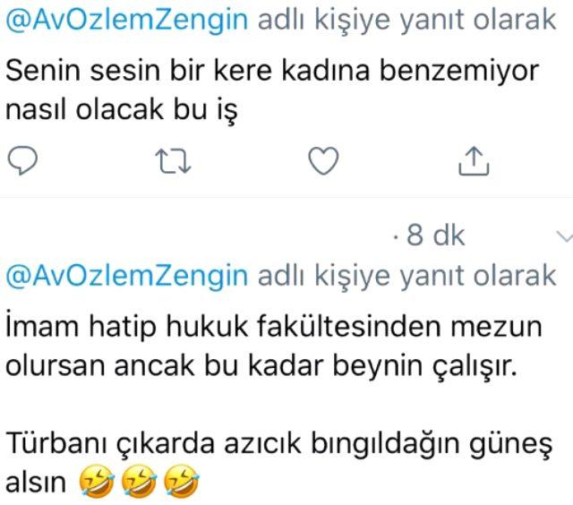 AK Parti Grup Başkanvekili Özlem Zengin, Meclis'teki konuşması sonrası kendisine yönelik başörtüsü saldırılarına yanıt verdi