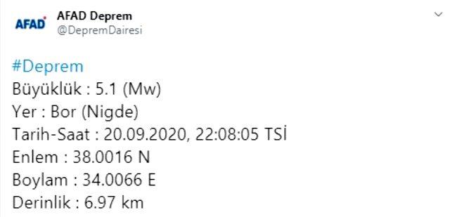 اللحظة الأخيرة: زلزال بقوة 5.1 درجة وقع في نيغدة