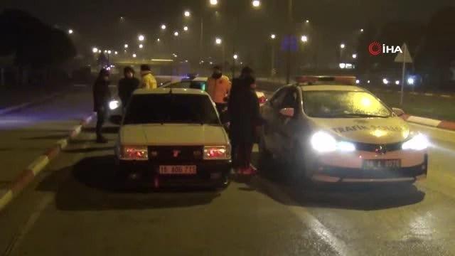 Polisin 'dur' ikazına uymayarak kaçması pahalıya patladı