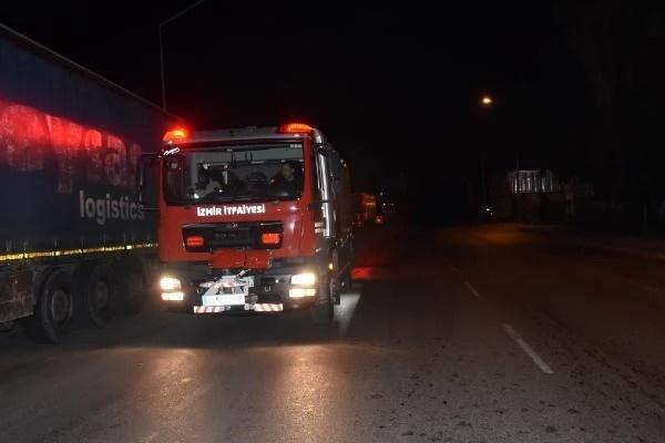 İzmir'de park halinde yanan araçta kundaklama şüphesi