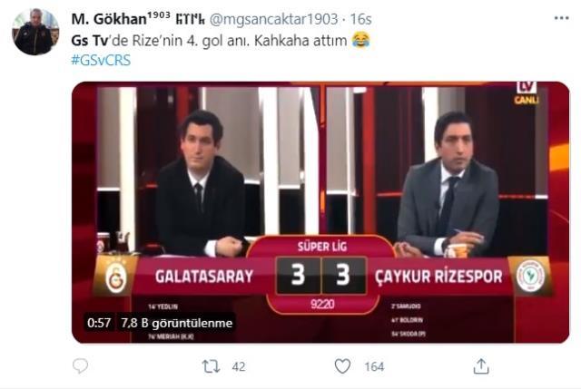 Rize attı, GS TV spikeri kendinden geçti! Gole verdiği reaksiyon sosyal medyada olay oldu