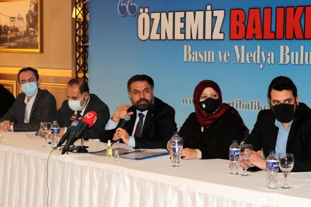 Ak Parti Balıkesir İl Başkanlığı basınla buluştu