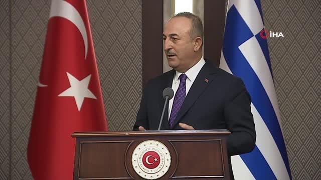 """Bakan Çavuşoğlu: """"Bize hep demokrasi, hukuk dersi vermeye çalışıyorsunuz, üç tane Avrupa İnsan Hakları Mahkemesi kararı var ve siz Türk azınlığın..."""