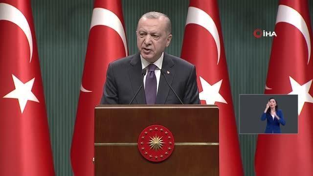 """- Cumhurbaşkanı Erdoğan: """"29 Nisan Perşembe akşamı saat 19.00'dan 17 Mayıs Pazartesi sabahı saat 05.00'e kadar sürecek şekilde tam kapanmaya..."""