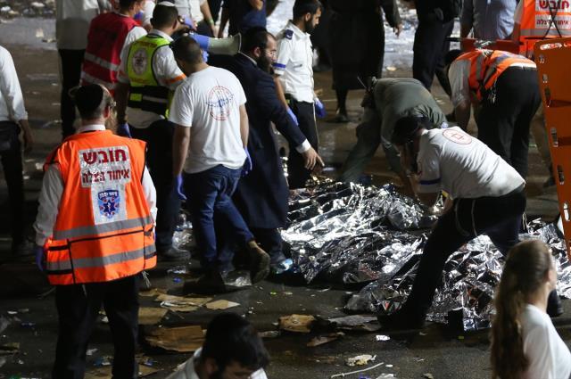 İsrail'deki bayram kutlamalarında izdiham yaşandı! 44 kişi öldü, onlarca yaralı var